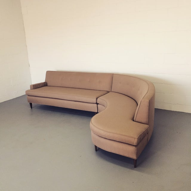 Mid-Century S-Curve Sectional - Image 2 of 7
