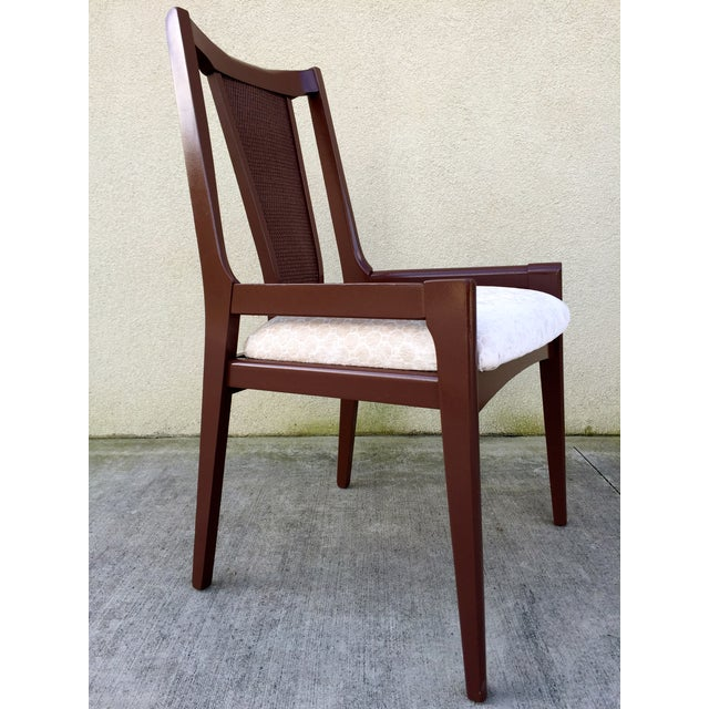 High Back Lacquered Dining Chairs - Set of 6 - Image 9 of 11