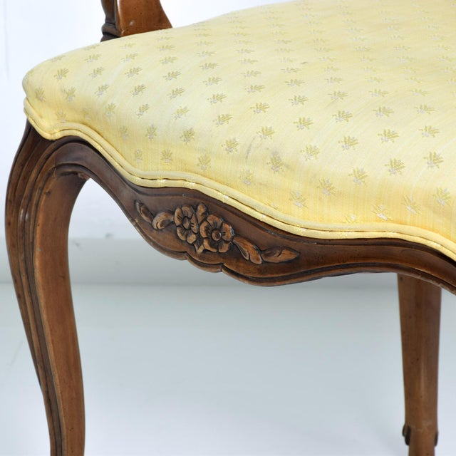 For your consideration, a pair of armchairs by Kindel. Beautiful hand-carving. Original gold-yellow upholstery. Original...