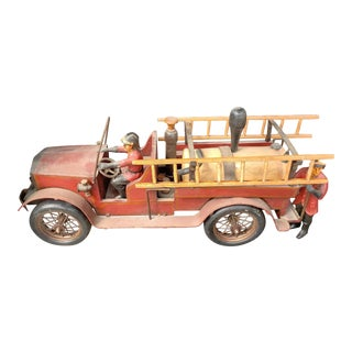 1930s Antique Toy Fire Truck For Sale