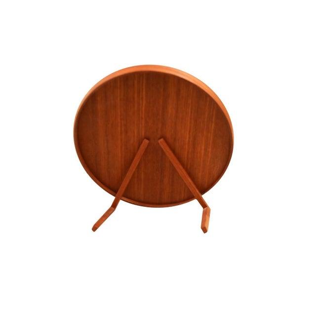 Luxus Mid Century Uno and Osten Kristiansson Teak Table Mirror Luxus Sweden For Sale - Image 4 of 12