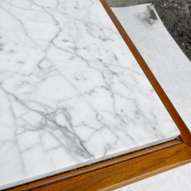 Long Mid-Century Marble Top Coffee Table For Sale - Image 11 of 13