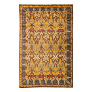 "Arts & Crafts, Hand Knotted Area Rug - 5'10"" X 9'2"" For Sale"