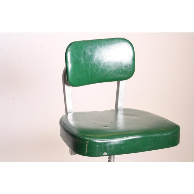 Cole Steel Vintage Cole Steel Industrial Swivel Office Chair For Sale - Image 4 of 11