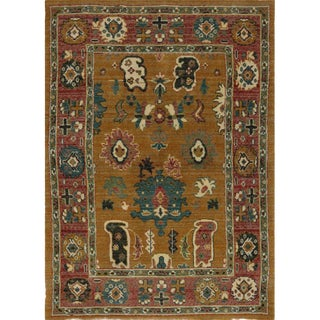 1990s Oushak Style Area Rug- 3′5″ × 4′9″ For Sale