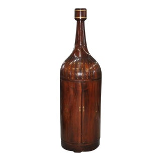 Mid 20th Century Mahogany Bottle Shaped Bar Cabinet For Sale