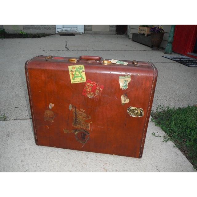 Vintage Samsonite Leather Suitcase - Image 2 of 8