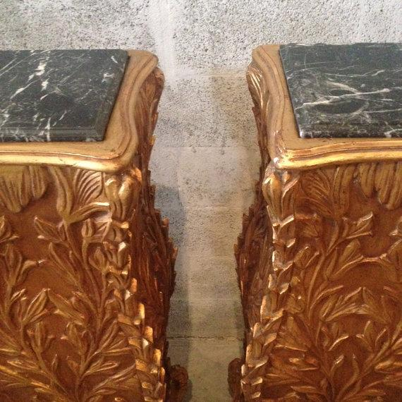 Golf Leaf Chippendale Pillars - A Pair For Sale - Image 5 of 6