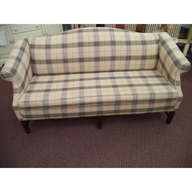 Paul Robert Chippendale Style Camelback Sofa For Sale - Image 9 of 9