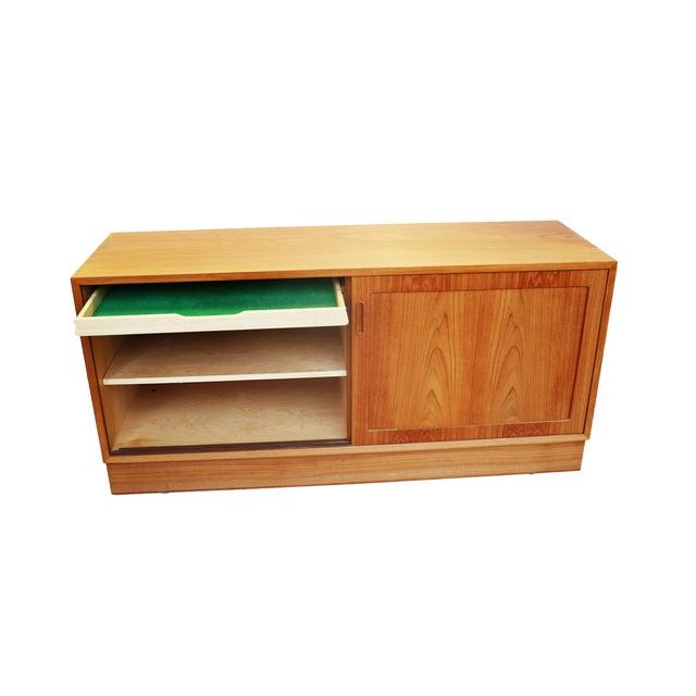 Danish Modern Teak Sideboard Hutch For Sale - Image 5 of 5