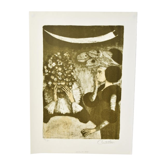 """Federico Castellon the Giddiest Grew Pale """"Mask of the Red Death"""" by Poe Lithograph For Sale - Image 12 of 12"""