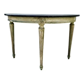 Louis XVI Console In French Gray Paint