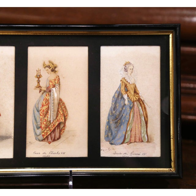 """19th Century French King of France Framed Color Prints """"Set of Three"""" For Sale - Image 4 of 12"""
