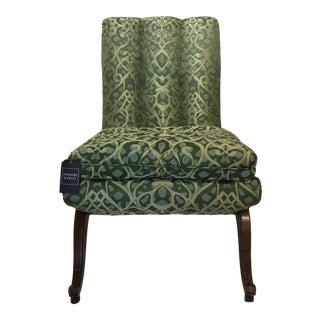 Mid-Century Art Deco Inspired Slipper Chair - Single For Sale