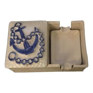 Nautical Cigarette Box & Ashtray Set