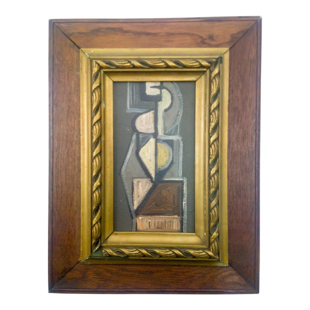Cubist Figure Portrait Painting For Sale