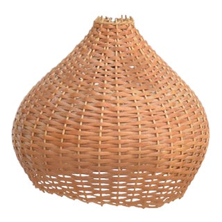 1960s Wicker Lampshade Ceiling Lamp, Denmark For Sale