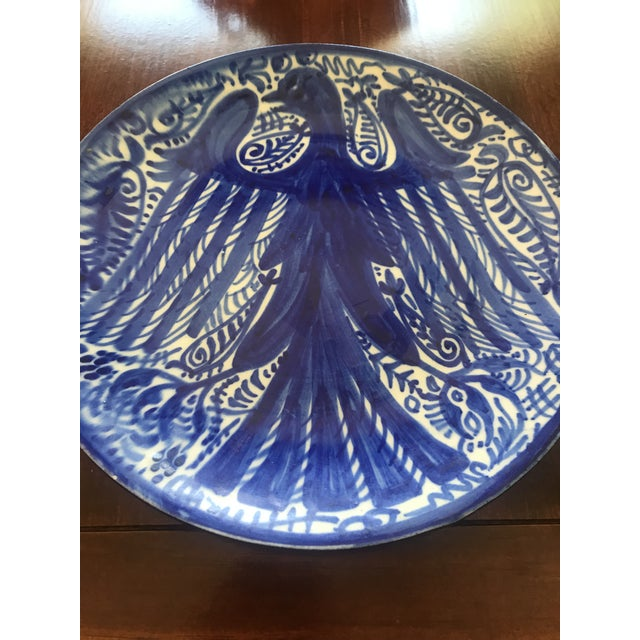 Listing is a striking, blue and white decorative plate with a bird motif. Made in Spain, this would be a wonderful...