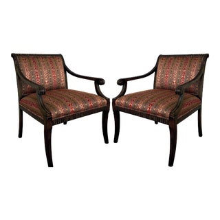 Vintage Regency Armchairs by Century Furniture - a Pair For Sale