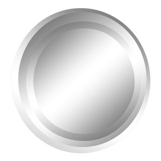 Modern Round Mirror With Optical Illusion For Sale