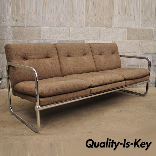 Milo Baughman Style Sofa by United Chair For Sale - Image 12 of 12