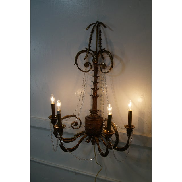Brown Maitland Smith Brass Regency Electrified Sconce For Sale - Image 8 of 10