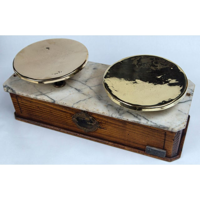 French Marble Top Bakery Scale, France, Late 19th Century For Sale - Image 3 of 11