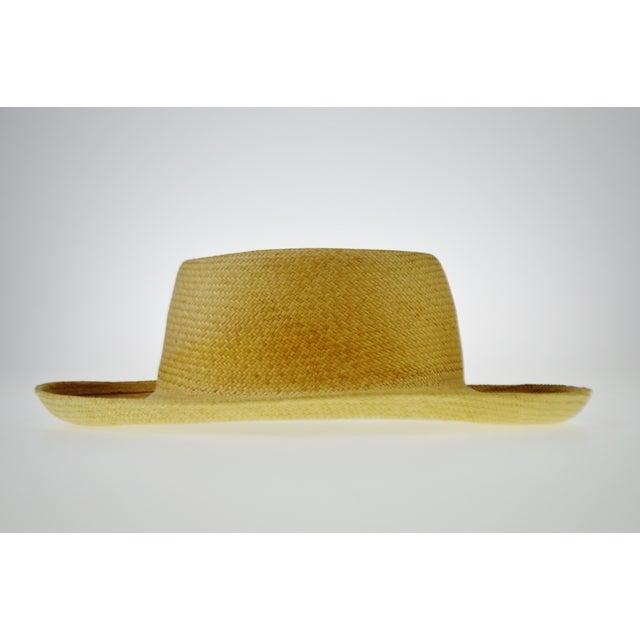 Vintage Genuine Hand-Woven Panama Hat - Image 3 of 10
