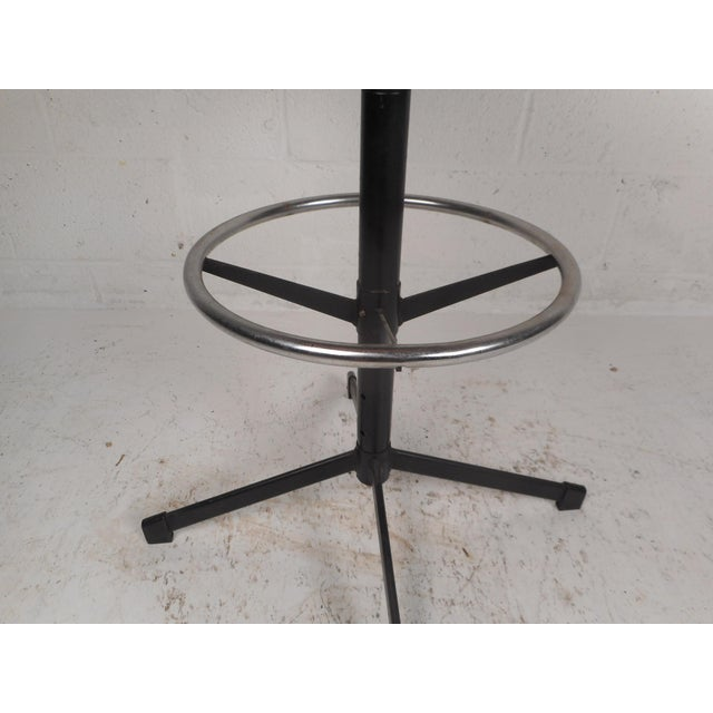 Set of Four Mid-Century Modern Swivel Bar Stools For Sale - Image 11 of 13