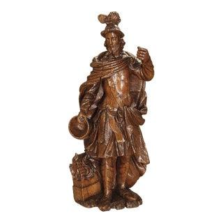 A Wonderful 17th Century Oak Statue of Saint Florian, Patron Saint of Firefighters For Sale