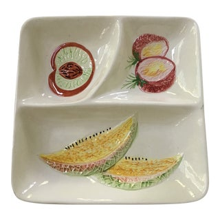 1960s Vintage Italian Ceramic Fruit Tray