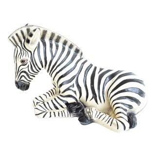 Large Italian Ceramic Zebra For Sale