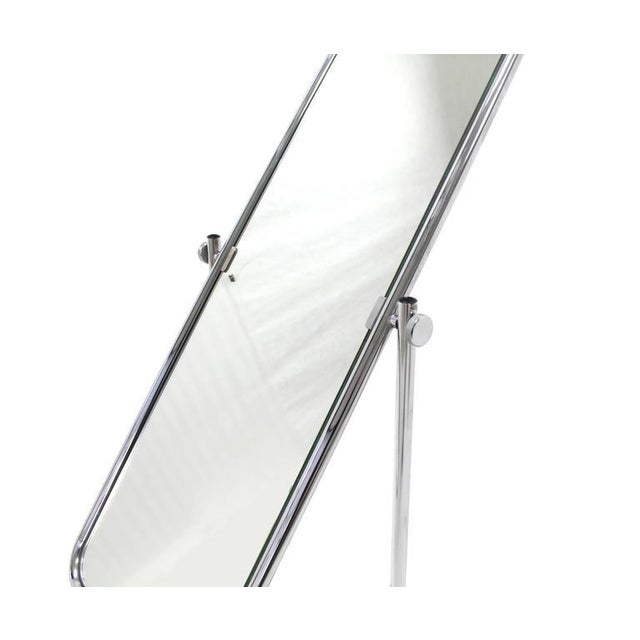 Bauhaus 1950s Vintage Mid-Century Modern Cheval Mirror For Sale - Image 3 of 10