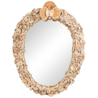 Large Oval Shell Mirror