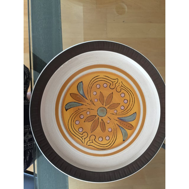 "1970's Casual Ceram ""Electra"" Dinner Plates - Set of 7 For Sale - Image 5 of 9"