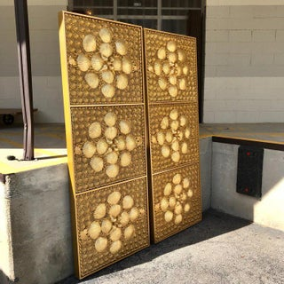 Pair of Tony Duquette Gold Covered Shell Panels or Screens Preview