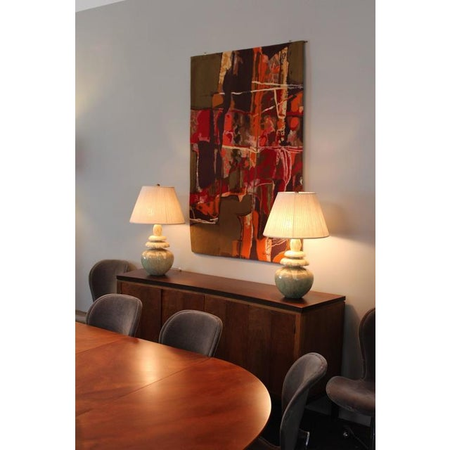 """Mathieu Matégot Tapestry Titled """"19 Composition"""" For Sale - Image 9 of 10"""