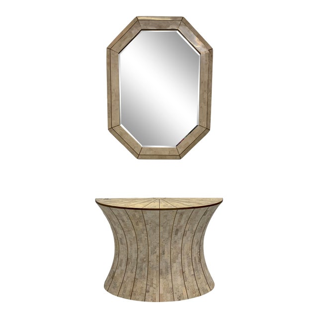 Maitland-Smith Tasselated Console and Mirror For Sale