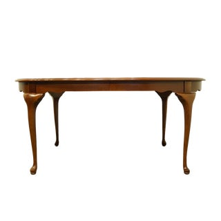 Stanley Furniture Cherry Traditional Style Oval Dining Table For Sale