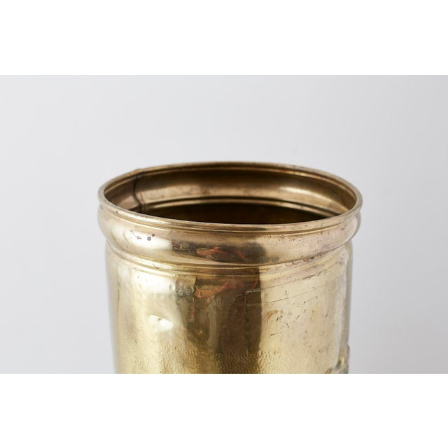 Brass Coat of Arms Umbrella Stand Holder For Sale In San Francisco - Image 6 of 11