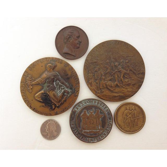 Vintage Medal Medallions & Paperweights - Set of 5 - Image 2 of 9