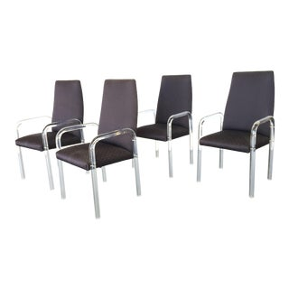 1980s Vintage Lucite Waterfall Dining or Side Chairs- Set of 4 For Sale