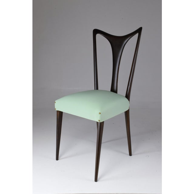 Wood Italian Vintage Dining Chairs Attributed to Guglielmo Ulrich, Set of Six, 1940s For Sale - Image 7 of 13