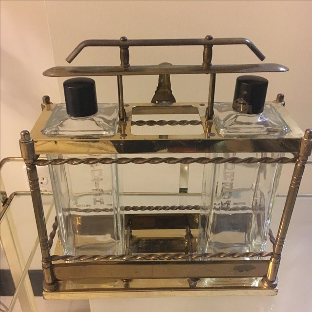 Brass Bar Scotch & Bourbon Decanter Set - Image 5 of 6