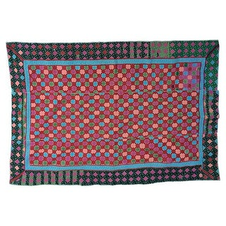 Antique Hand Woven Hill Tribe Marriage Quilt For Sale