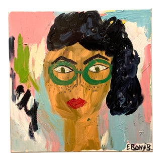 """Abstract Face Painting by Ebony Boyd, """"Sychotic Susie"""" For Sale"""