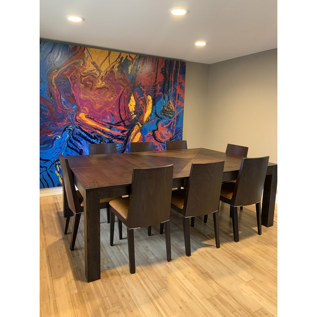 Modern Dining Table & Leather Chairs For Sale - Image 9 of 9