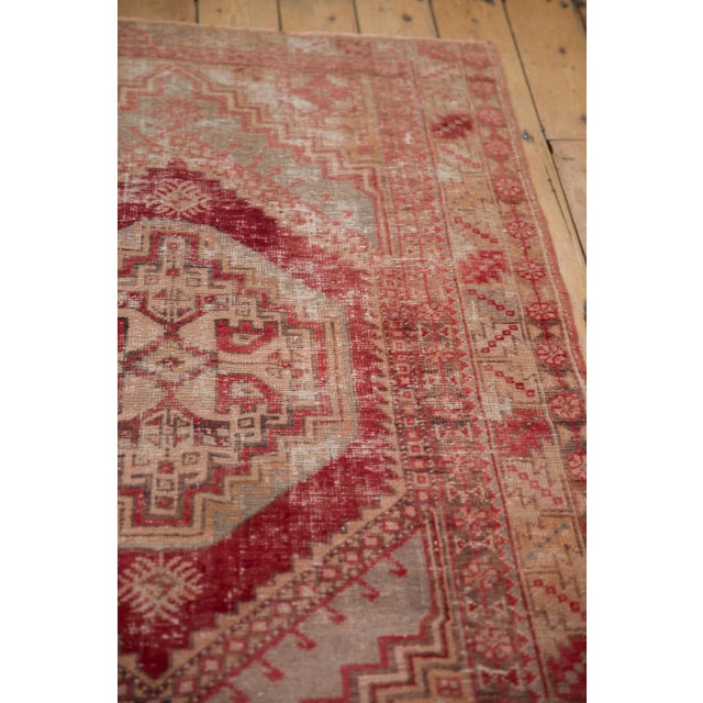 "Red Vintage Distressed Oushak Rug - 3'8"" X 5'8"" For Sale - Image 8 of 12"