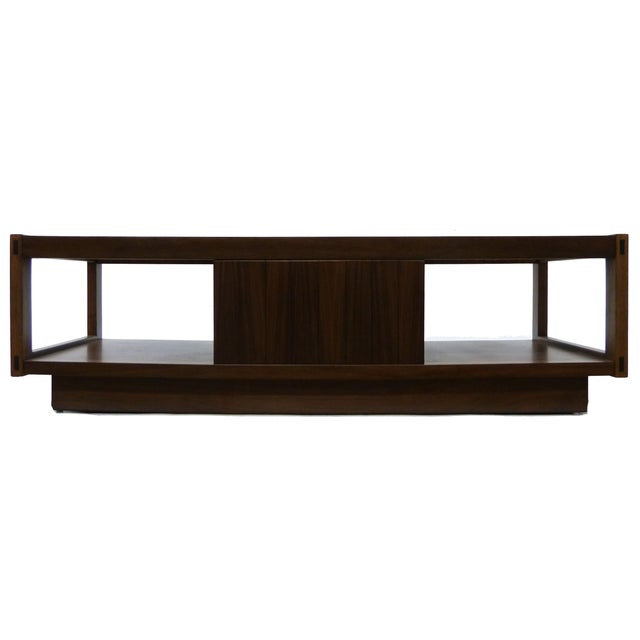 Architectonic Walnut Coffee Table by Lane For Sale - Image 5 of 5