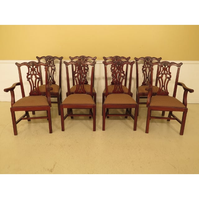 Ej Victor Chippendale Style Mahogany Dining Chairs - Set of 8 For Sale - Image 13 of 13